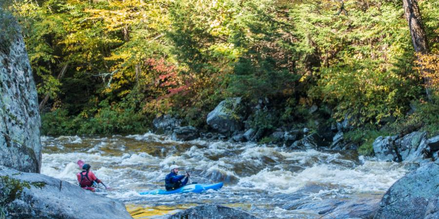 Kayakers West Branch Ausable River