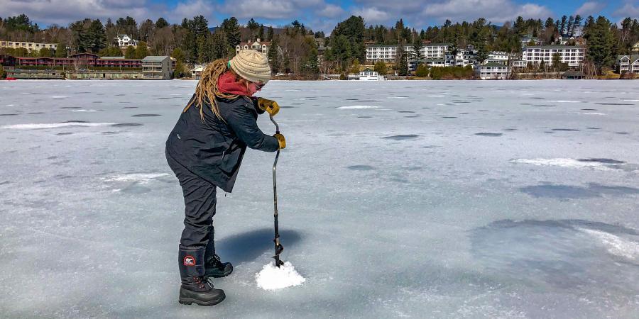 Mirror Lake Ice Auger