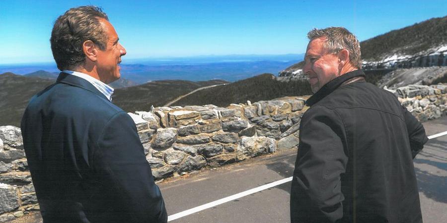 Governor Andrew Cuomo and Randy Preston