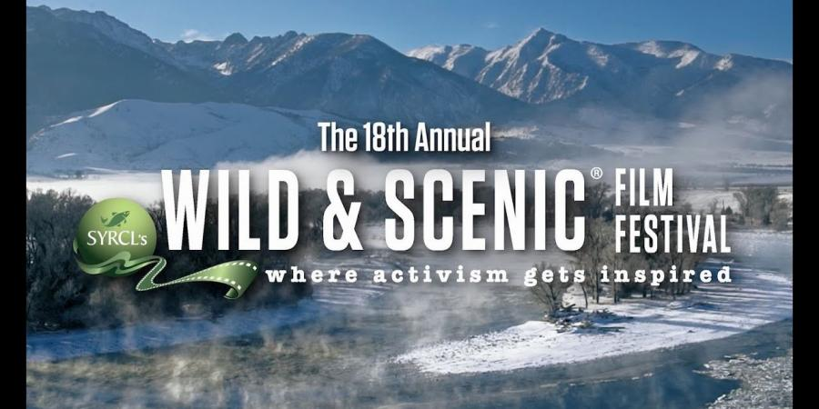 Wild & Scenic Film Festival logo with mountains and rivers in background